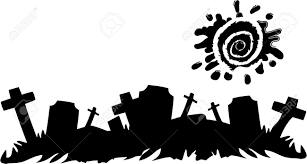 halloween silhouette vector the vector halloween cemetery banner royalty free cliparts