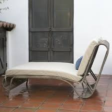chaise furniture solid wicker double chaise lounge with console