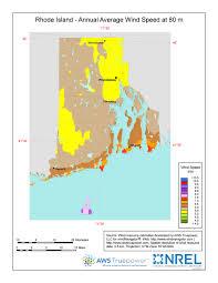 map rhode island windexchange rhode island 80 meter wind resource map
