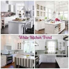white kitchens are trending right now so open and bright if you