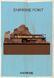 Movie House Modernist Archicine Famous Movie Architecture As Modernist Illustrations