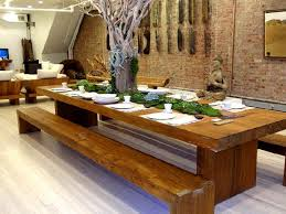 bench awesome creative wooden dining room tables with large wood