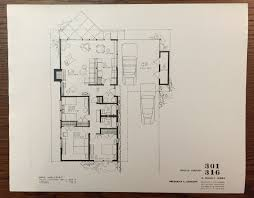 Eichler Homes Floor Plan 301 316 Side Front Door Similar To Special Floor Plans