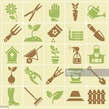 garden and gardening tools large color icon set vector art getty