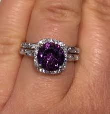 amethyst engagement ring sets best 25 purple engagement rings ideas on sapphire