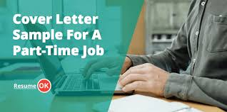 letter sample for a part time job