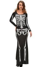 Skeleton Halloween Costume Women by Wholesale Cheap Long Skeleton Dress Halloween Costume