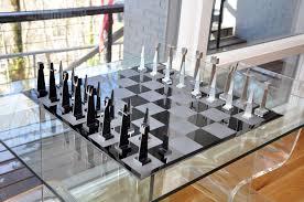alcoa aluminum abstract chess set www chessantiques com