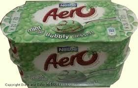 diets and calories nestlé aero bubbly desserts