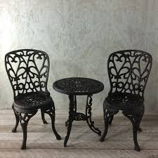 Iron Bistro Chairs Cast Iron Bistro Chairs New Cast Iron Bistro Patio Set Outdoor