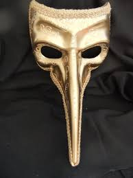 nose venetian mask style gold nose mask