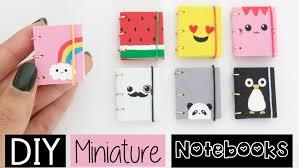 diy designs diy mini notebooks four easy cute designs youtube