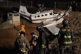 lexus turbo goes airborne and jumps the fence crash of a cessna 421b golden eagle ii in cherokee county 1