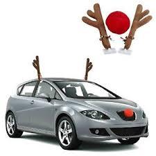 reindeer car car reindeer antlers rudolph nose christmas festive