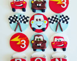 cars cake toppers cars cupcake toppers pixar cars birthday party decorations