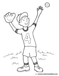 baseball catch coloring sheet create a printout or activity