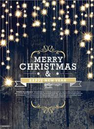 Happy New Year Invitation Christmas And New Year Invitation Design Woodgrain With String