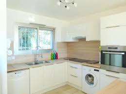 lave linge dans la cuisine cuisinehtm cuisine acquipace avec frigo congaclateur four lave