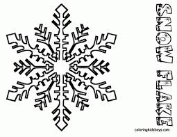 snowflake drawing for children snowflake images to print