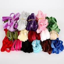 ribbon for hair 5yard lot multicolor velvet ribbon for hair bow gift wrapping