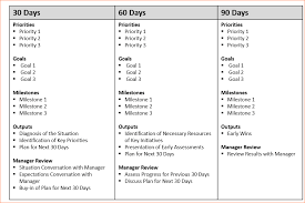 19 30 60 90 day sales plan template professional sales