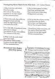 thanksgiving hymns the joy of liturgy sentire ecclesia