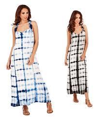 ladies maxi dress summer beach tie dye plus size 16 18 20 22 ebay