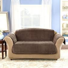 Dual Reclining Sofa Slipcover Reclining Sofa Slipcover Ribbed Texture Chocolate Surefit