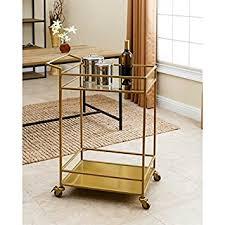 amazon com abbyson living marriot gold kitchen bar cart bar