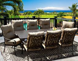 Patio Table Seats 8 Tortuga 42x84 Rectangle Outdoor Patio 9pc Dining Set For 8 Person