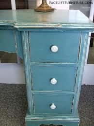 Blue Vanity Table Chippy Distressed Sea Blue Vanity Desk Facelift Furniture