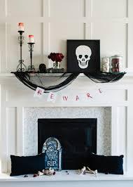 winsome mantel halloween design ideas feat marvelous white wooden