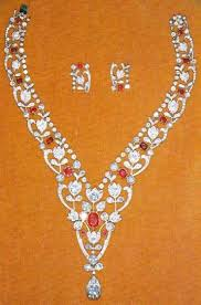 diamond necklace ruby images From her majesty 39 s jewel vault ruby and diamond floral bandeau jpg