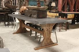 reclaimed trestle dining table rustic trestle dining table modern foter with regard to 27 ege