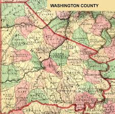 Pennsylvania Map by Washington County Genealogy Pagenweb Project Home Page