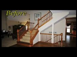 Wooden Banister Spindles Replace Wood Spindles With Wrought Iron Balusters Best Home