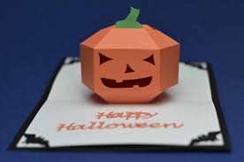 halloween pop up card 3d pumpkin tutorial creative pop up cards
