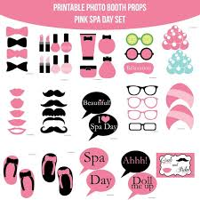 printable girly photo booth props 39 best spa party images on pinterest photo booths printable