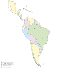 United States Outline Map by Latin America Free Map Free Blank Map Free Outline Map Free