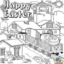 kids happy easter coloring pictures thomas train