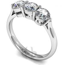engagement rings platinum images Platinum diamond engagement ring 3 same size stones court band jpg