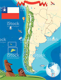 Atacama Desert Map Cartoon Map Of Chile Stock Vector Art 165905179 Istock