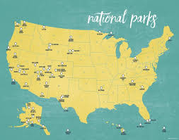 us map map of every national park in the us ecoclimax us national parks