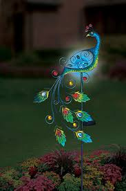 peacock garden solar light miller miller