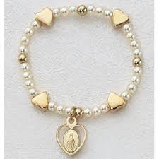baby rosary bracelet 5 1 2 in sterling baby rosary bracelet boxed christian catholic shop