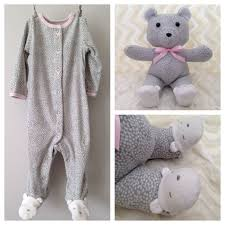 remembrance teddy bears keepsake memory teddy made from baby onesie