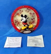 bradford exchange home decor disney collector plate mickey mouse from the drawing board