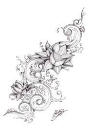 simple lotus flower stencil tattoo design golfian com