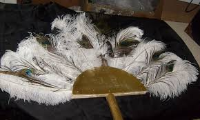 extra large feather fans all about props egyptian props to rent