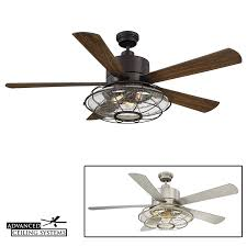 industrial style ceiling fan with light 7 rustic industrial ceiling fans with cage lights you ll love
